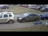 Жестокое избиение за не правильно припаркованный автомобиль