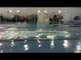 Первое соревнование по плаванию (Аквамарин 27.12.2014). Дорожка №2.